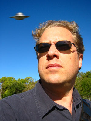 Prentiss Riddle with UFO