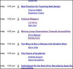 searchable SXSWi 2007 panel schedule